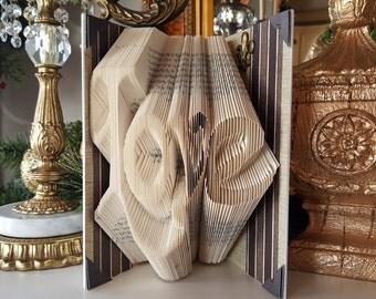 Love folded book art, Wedding gift, Engagement gift, Friend Gift, Boyfriend gift, Father gift, Anniversary Gift, Bridal Shower, Husband gift