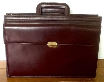 Vintage Leather breif case-top grain leather breif case