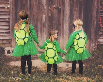 Ready to ship - TMNT inspired shell, turtle shell, Ninja turtle inspired shell, dress up shell, turtle costume, shell only
