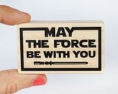 May the force be with you star wars stamp, Star Wars party, Jedi rubber stamp, Star Wars birthday, Star Wars gift, geekery, geeky star wars