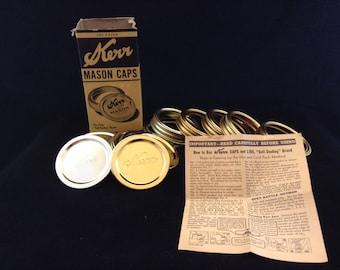 Vintage Kerr Mason Jar Canning Lids