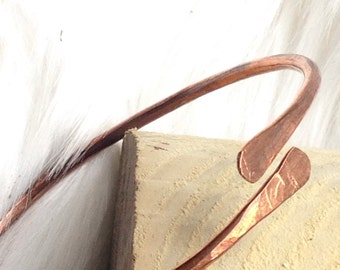 Copper bangle, thin gauge