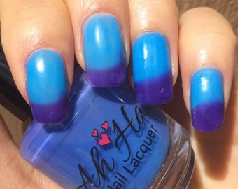 Purple to Blue Thermal Changing Polish