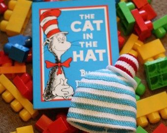 The Cat In The Hat inspired childrens hat! Fun, Dr Seuss inspired creation that can be ordered to fit baby/toddler/child or older!