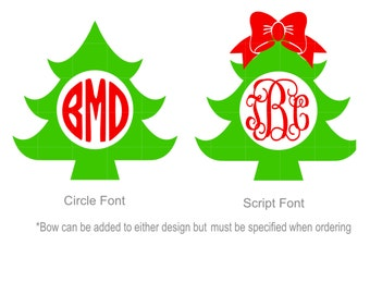 Iron On Monogram Christmas Tree