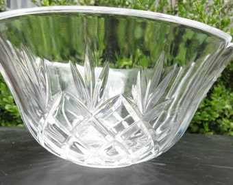 Crystal Bowl, Glass Bowl, Decorative Bowl, Vintage
