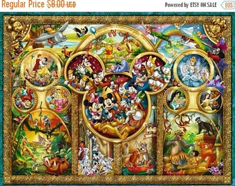 "ON SALE Counted Cross Stitch - The Best Themes - 35.43"" x 26.57"" - L678"