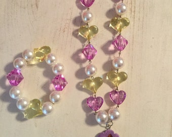 Belle necklace and bracelet children set