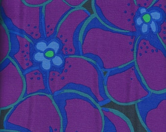 Cotton Fabric - Kaffe Fassett Collective Spring 2016 - ELEPHANT FLOWERS PURPLE