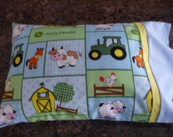 Toddler Pillow, Travel Pillow, Small Pillow, John Deere, Farm Pillow