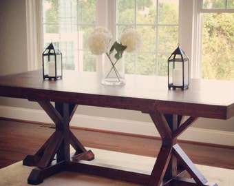 Rustic Handmade Farmhouse Dining Table