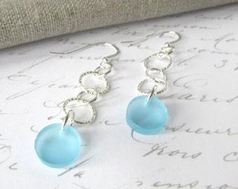 Silver Drop Earrings – Silver Dangle Earrings - Long Drop Earrings – Pendant Earrings – Fashion Earrings – Long Silver Earrings – Laser Cut