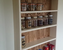 Handmade solid pine four tier spice rack
