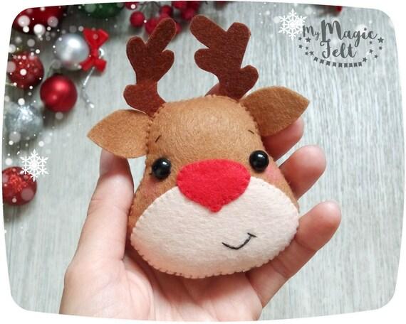 Christmas ornaments felt rudolph reindeer ornament christmas - Renos de fieltro ...