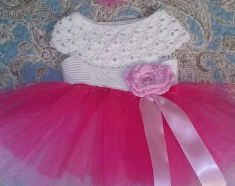 Crochet top tutu dress