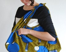 Furoshiki tote made from African wax print cotton
