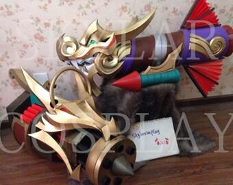 LOL League of Legends firecraker Jinx dragon cosplay Weapons