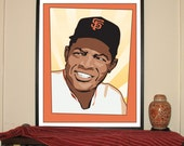 "Willie Mays 24""w x 3..."