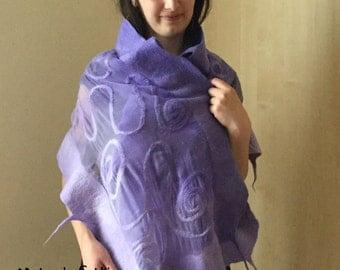 Nuno felted shawl(5)