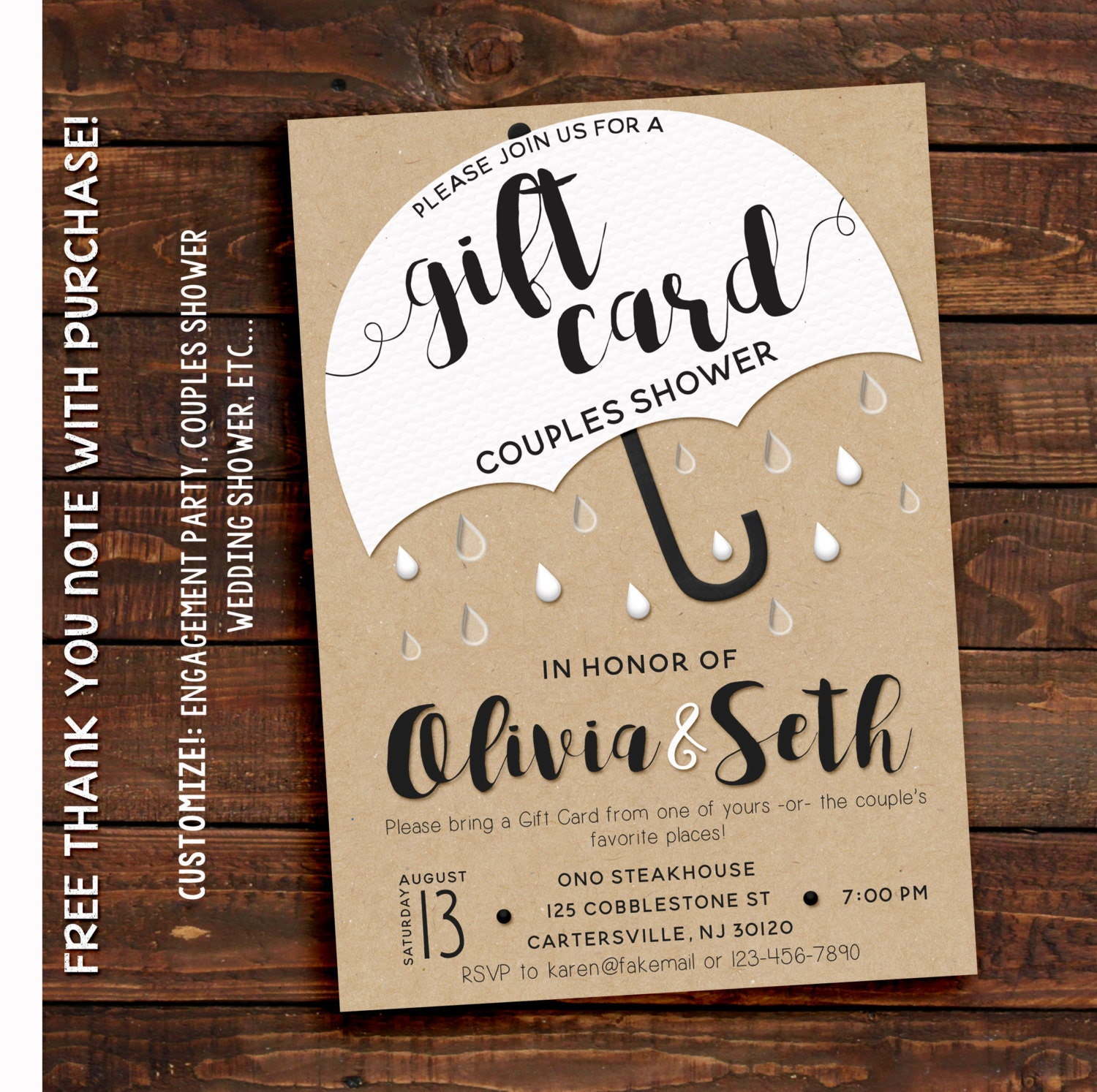 Wedding Gift Card Sayings: Couples Shower Invitation Couples Shower Invitation