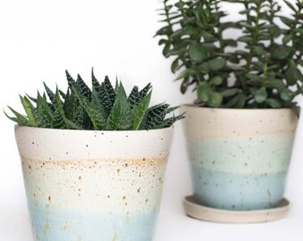 Speckled Planter // Herb Pot // Plant Pot // Planter // Succulent Planter // Indoor Planter // Coastal Inspired // New Home // Teacher Gifts
