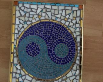 Handmade, Mosaic, Mosaic Yin and  Yang, Mosaic Tiles, Yin and Yang, Balance, Calming