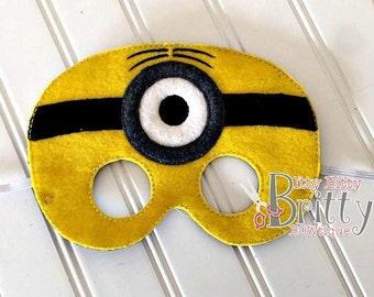 One eyed minion inspired mask