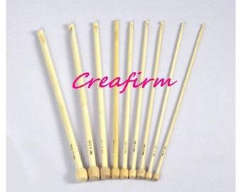 9 hooks Tunisians bamboo - 9 diameters