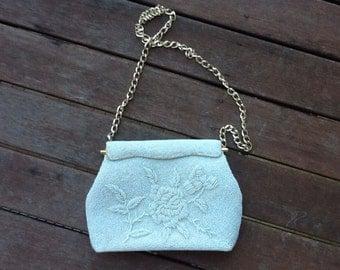 VINTAGE 60's rockerbilly beaded handbag