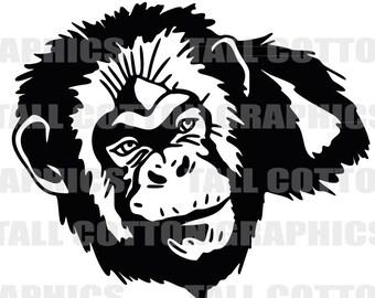 CHIMPANZEE MONKEY Vinyl Decal Sticker decor #WL055