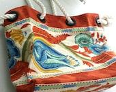 Beach/ pool bag..nautical tote bag..weekend tote..
