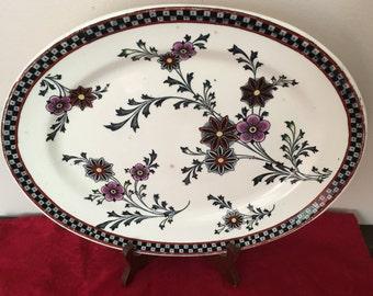 """POWELL BISHOP & STONIER """"Gem"""" Oriental Ivory Platter, 1883"""