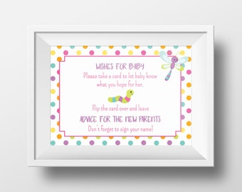 4 Personalized Signs for Bug Themed Baby Shower. Custom Signs for Bug Baby Shower. Bug Baby Shower Party Decor.