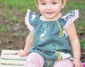 Unicorn Baby Romper - Baby Girl Romper - Lace Baby Romper - Toddler Unicorn Romper - Toddler Unicorn Sundress - Baby Unicorn Dress