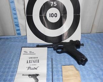 Vintage 50's  Kruger 98 Toy Cap Gun Pistol