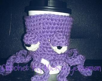 Crochet grumpy octopus cozy