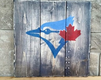 Toronto Blue Jays Wood Painted Sign, Jays, Baseball Sign