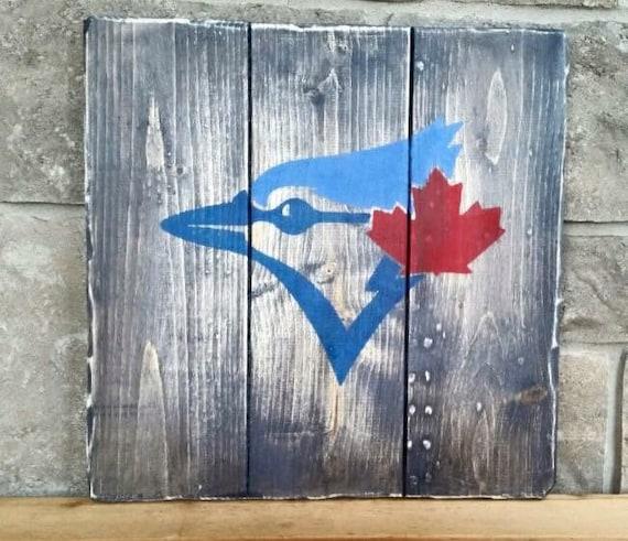 Ships Canada Us Wide Wood Sign: Toronto Blue Jays Wood Painted Sign Jays Baseball Sign