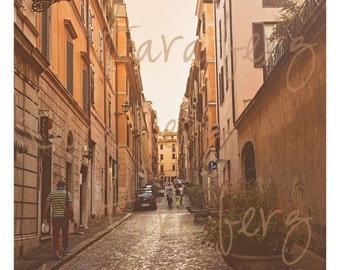Italy Street Photo | Flowers in the Street | Digital Download
