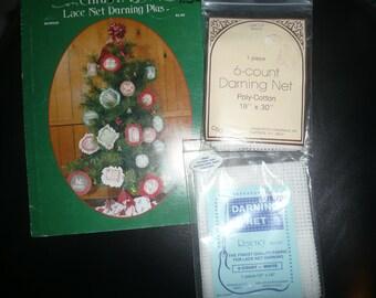 Lace Net Darning Books,Kits, Fabrics