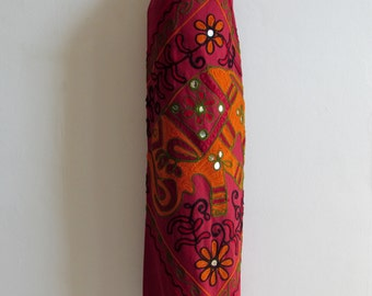 Yoga Mat Bag Pilates Mat Bag handmade Burgundy bag with Tapestry Indian Elephant  free UK delivery (b30) Free gift