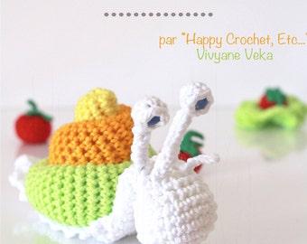 Crochet Snail • Amigurumi animal • Crochet Pattern • PDF pattern • Amigurumi tutorial • Amigurumi • DIY • English and french pattern