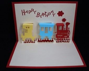 Happy Birthday/ kids Birthday/ For Him / Son/ Nephew /Dad / Celebration /  3D Pop Up Luxury Handmade Card