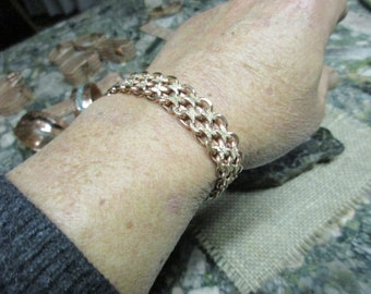 Copper Chain Bracelet #2 with Magnetic Clasp.