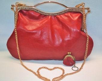 Leather Bag, Evening Clutch, Genuine Leather Handbag