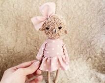 Dolls Animals Stuffed Sheep Plushies Lamb Plush Bear Toys - Plush Sheep - Plush Lamb- Ooak animal Dolls