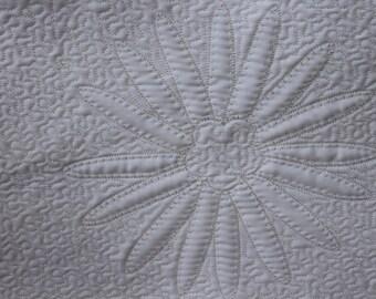 Flower petal quilt block