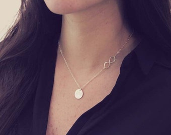 Infinity Lariat Necklace /  Y Necklace Gold / Initial Infinity necklace / Simple Delicate Y Drop Necklace / Personalized Initial Necklace