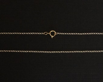 Gold Filled Rollo Chain, Jewelry Chain, 14K Gold Filled, Finished Chain, Dainty Chain, Tiny, 18 inch, 1.3mm, Fast Shipping from USA