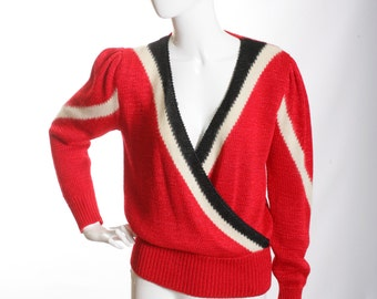 Hand Loomed Color Block Elegance Sweater
